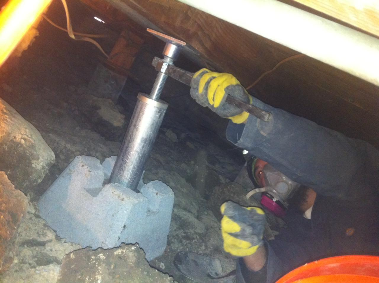Smart Jack installed in crawl space
