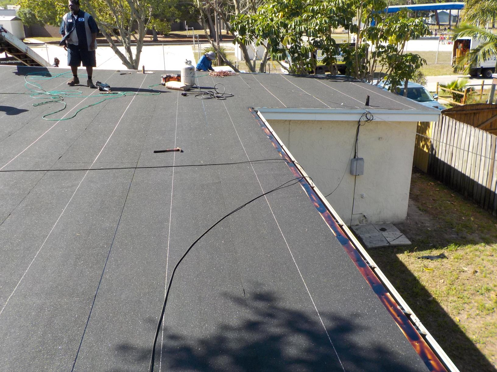 Residential Roof Replacement Flat Roof Replacement In