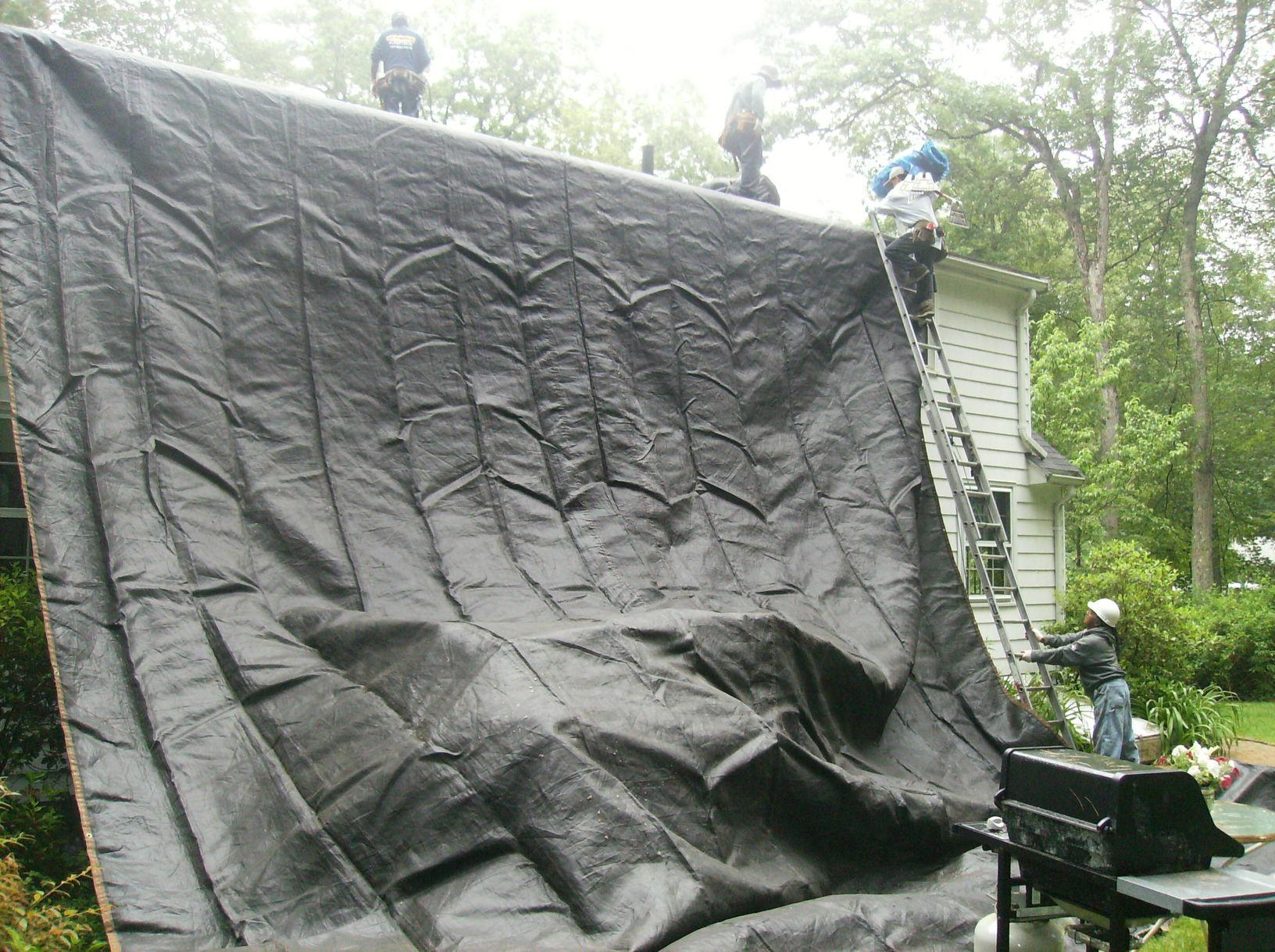 Tarping Off the Roof