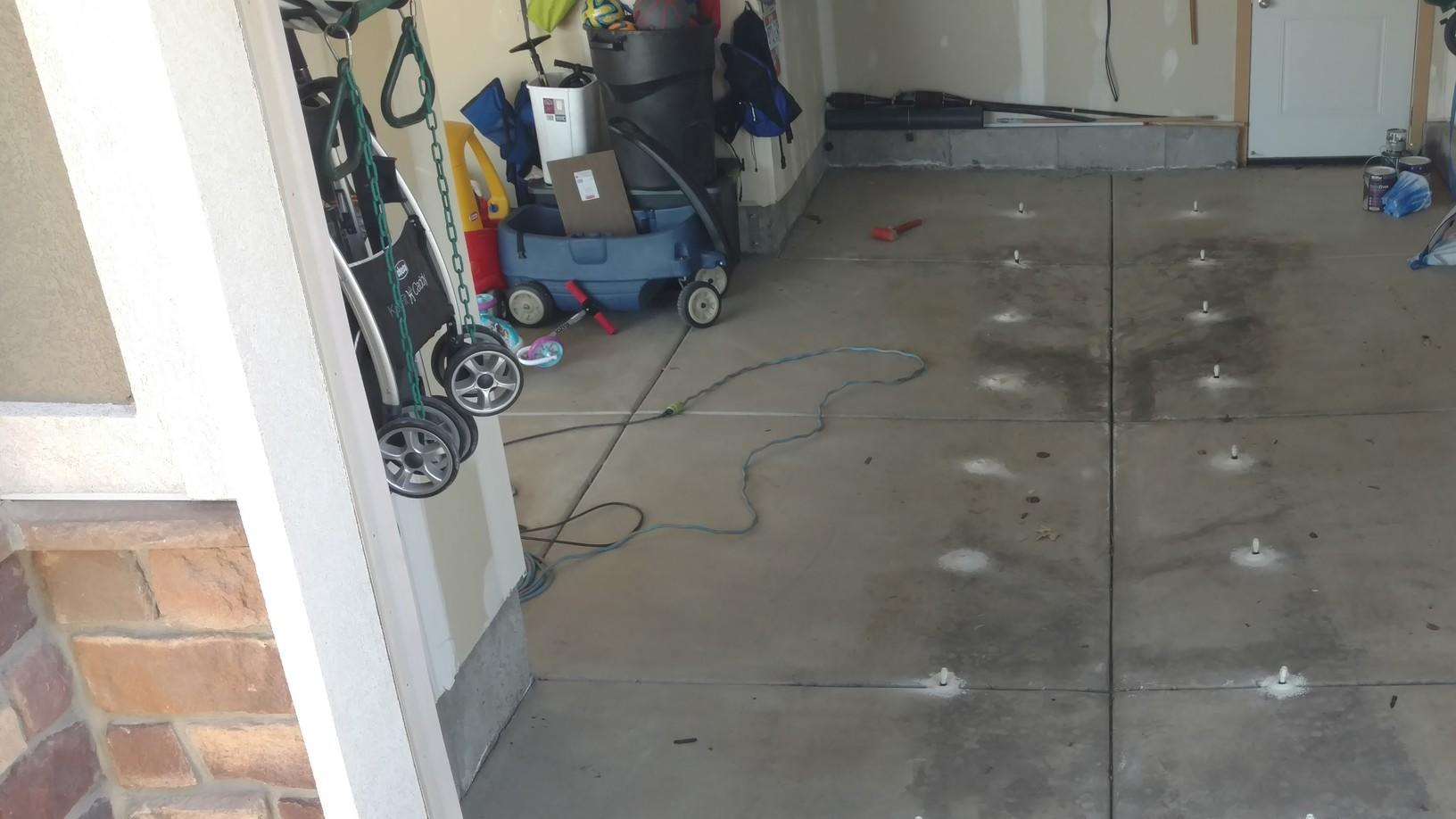 Dropped Garage Floor Before- Angle 1