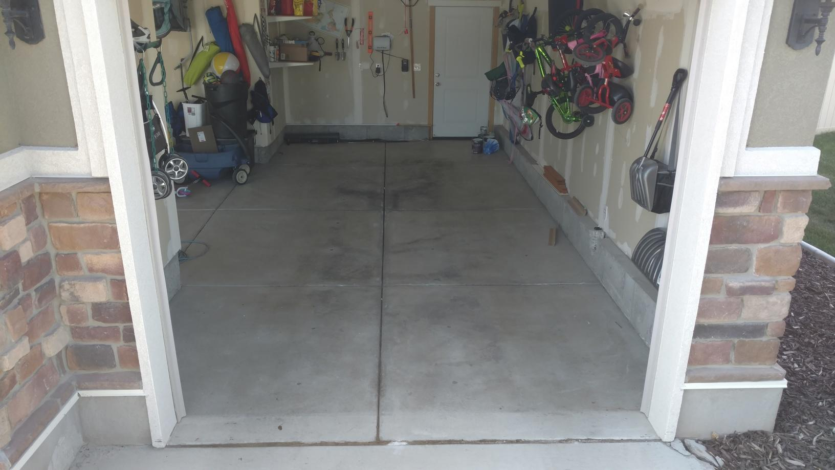 Dropped Garage Floor After- Angle 1