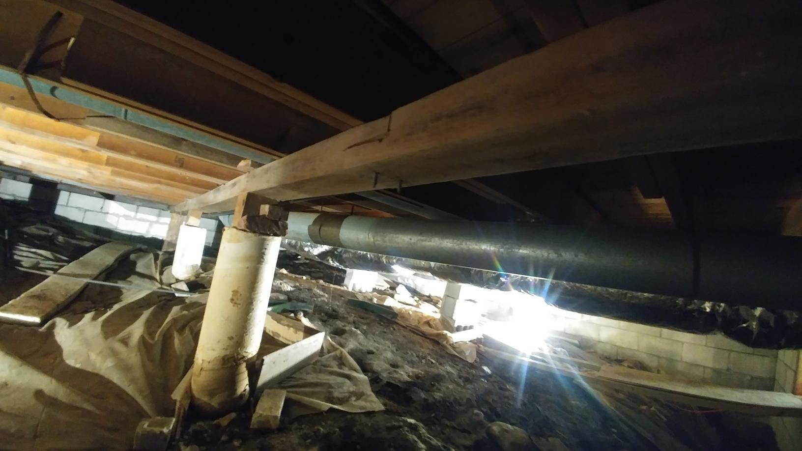 Failing CrawlSpace Supports