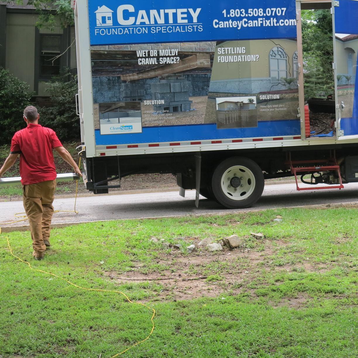 Foundation Services Push Pier Helps Homeowner In Irmo