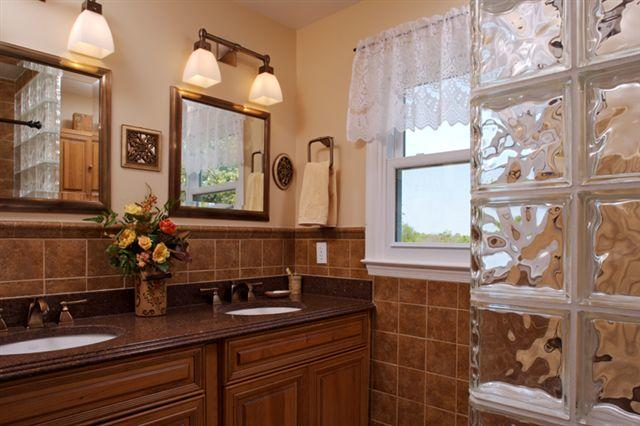Master Bathroom with Frosted Glass
