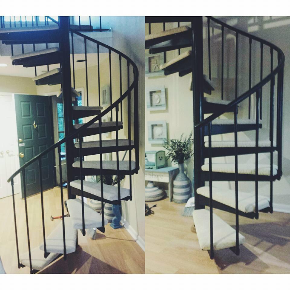 Spiral Staircase Carpet Installation in Sayreville, NJ