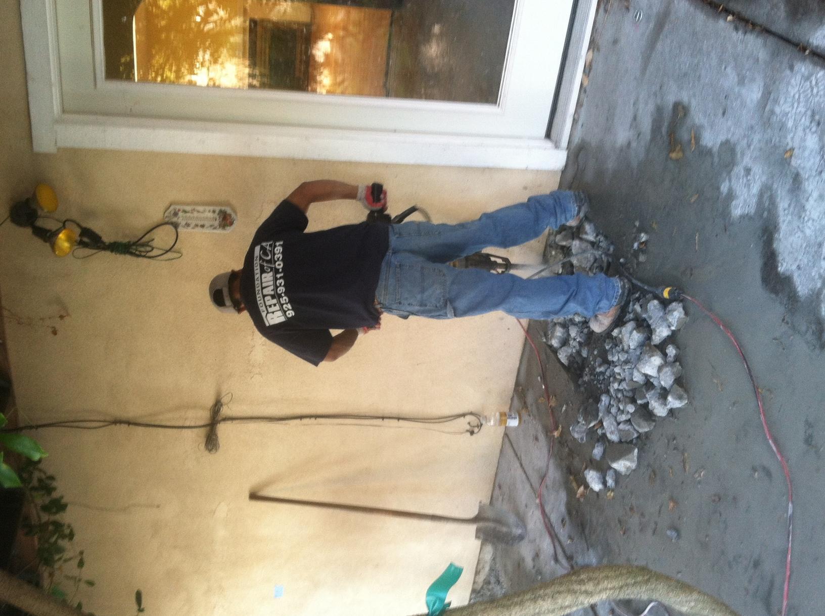 Work in progress in Pleasant Hill, CA