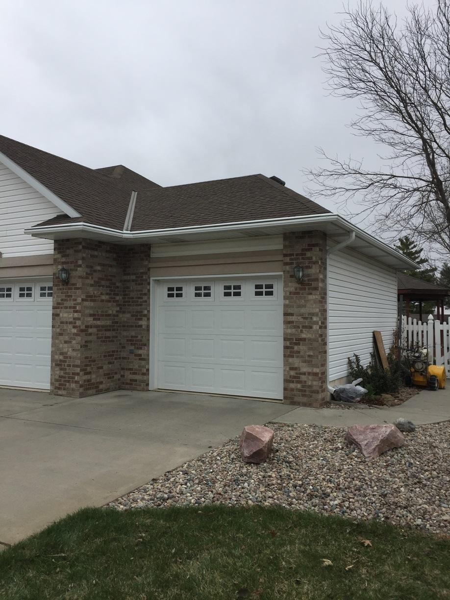 Front Right - White LeafGuard Gutter System Installed - Columbus, NE