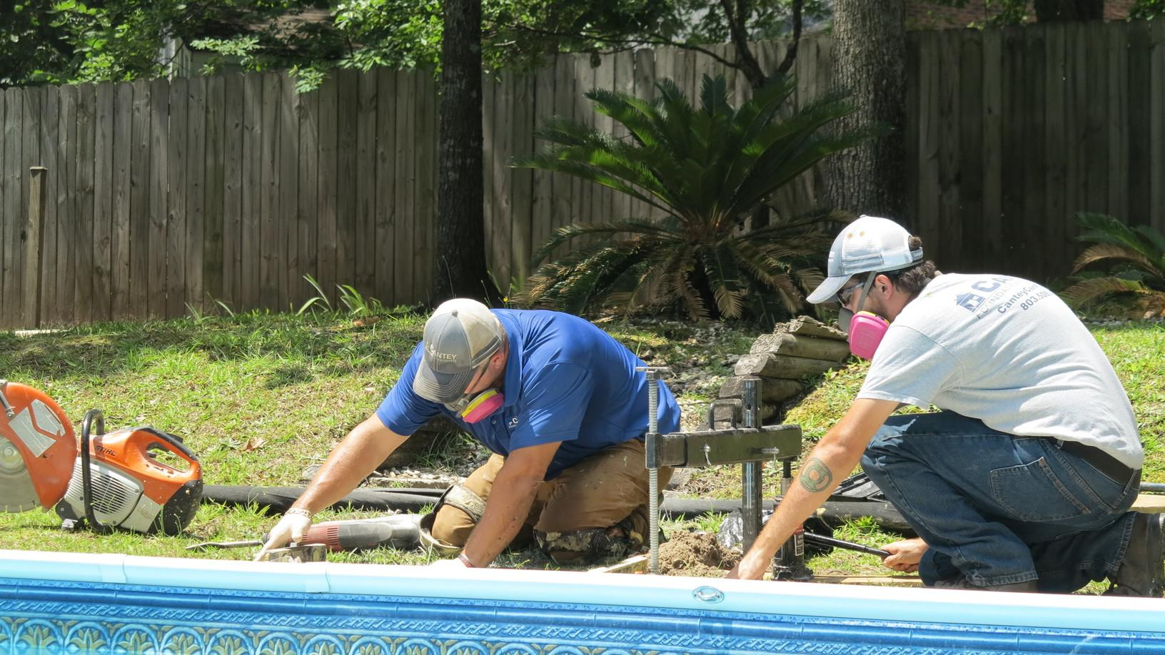 Concrete Repair Polylevel Injected At Pool In Beech