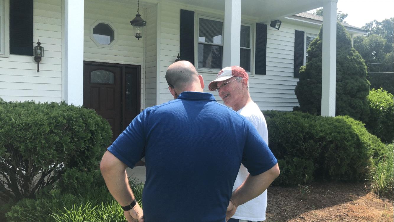 Matt Talking to a Customer in Chantilly, VA