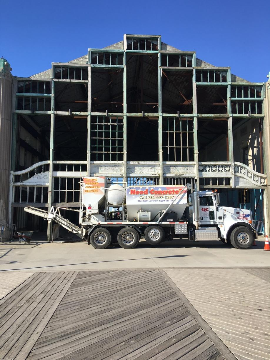Making A Small Concrete Delivery In Asbury Park, NJ.