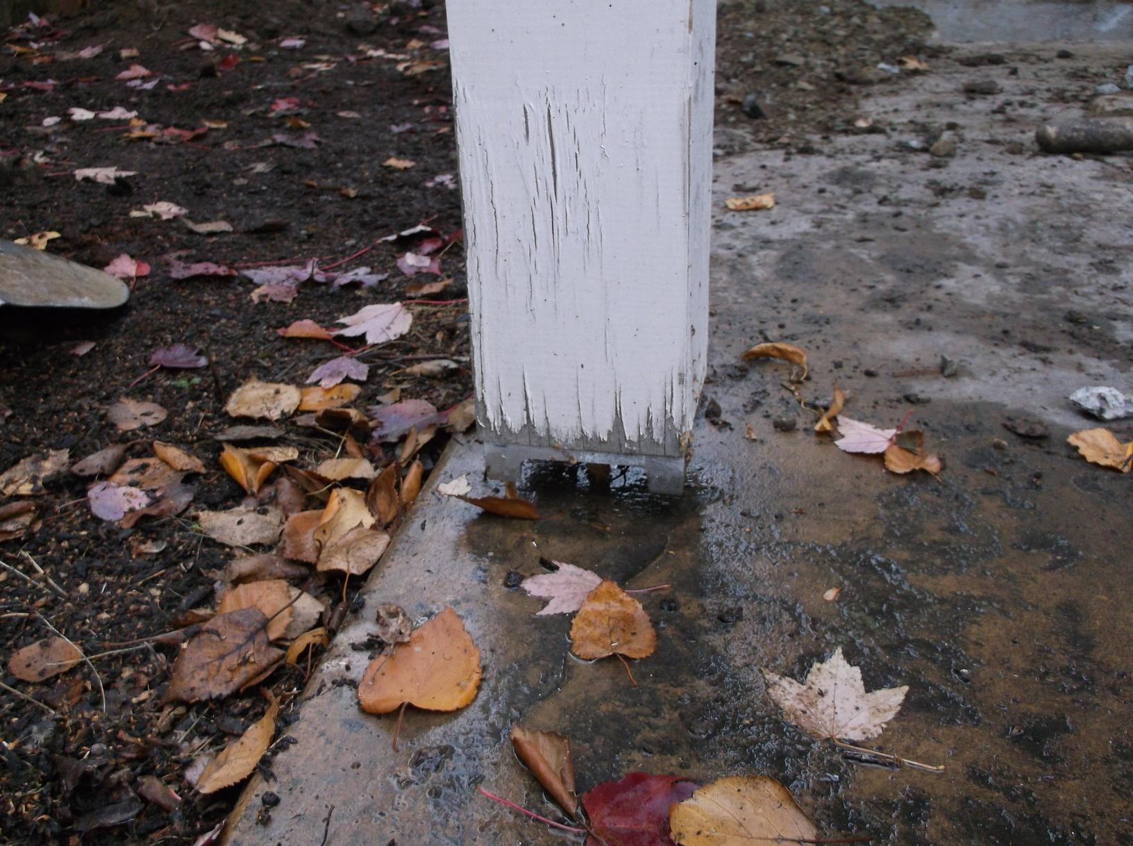 Porch post separation.