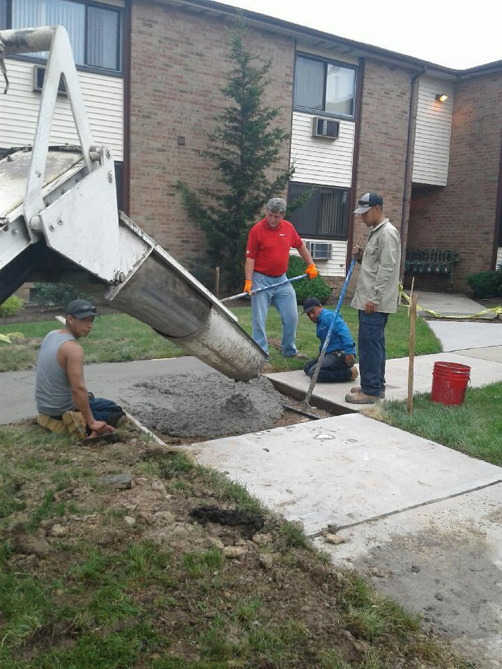 Delivering Concrete To Woodbridge, NJ For Our Contracting Division.