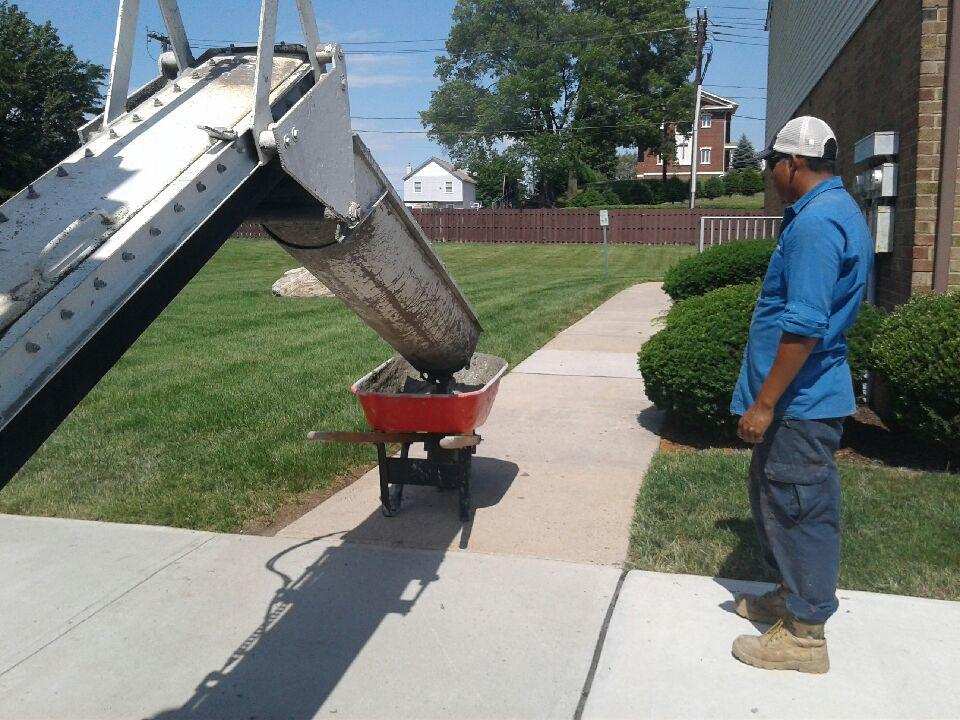 Delivering Concrete To Replace Sidewalks And Walkways In Woodbridge, NJ