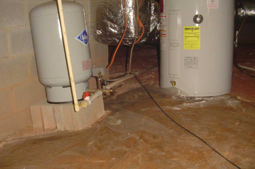 Crawlspace with Old Liner