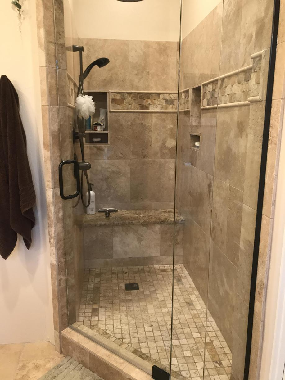 Rustic Bathroom Remodel In Scottsdale Az Walk In Shower