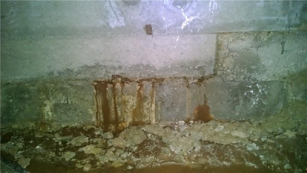 Water intrusion through Concrete Foundation