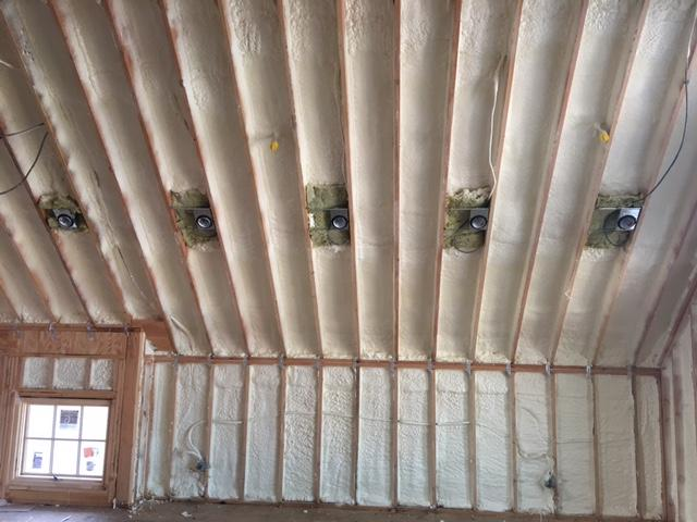 Spray Foam Insulation in Third Story Renovation