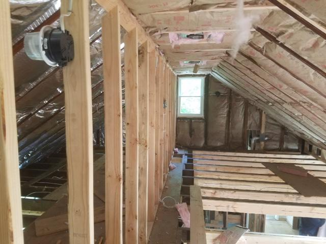 View of the Entire Insulation Project