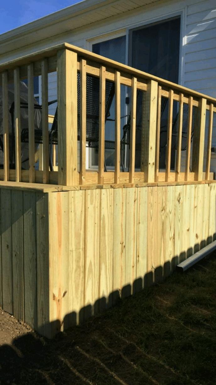New deck addition
