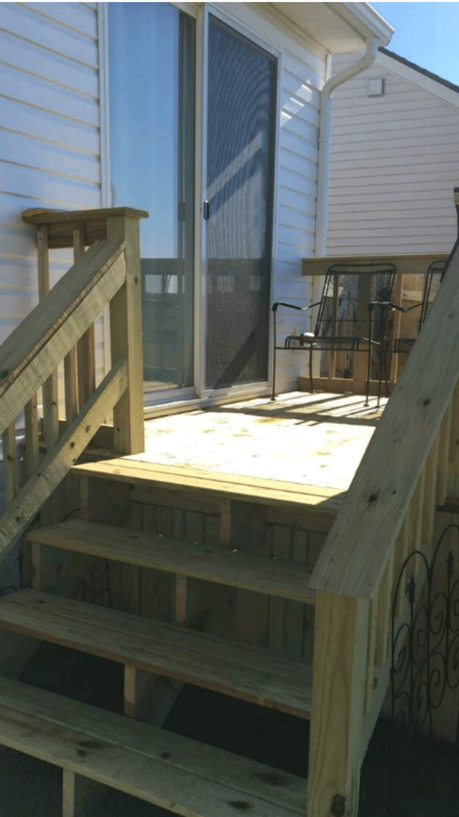 New deck addition - side view