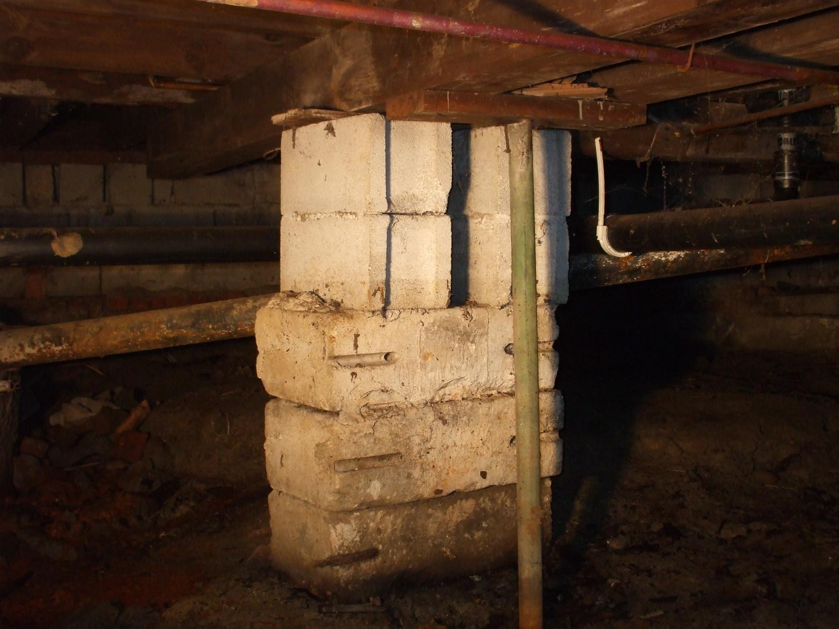 Completely Wet Crawl Space