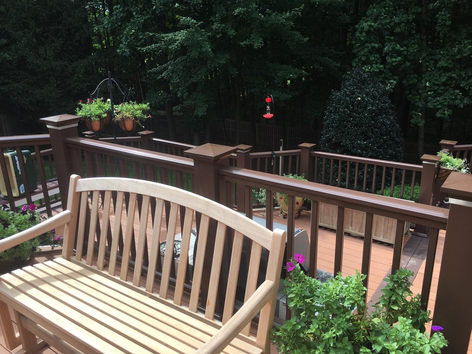 Upper Level of Deck Installed in Herndon
