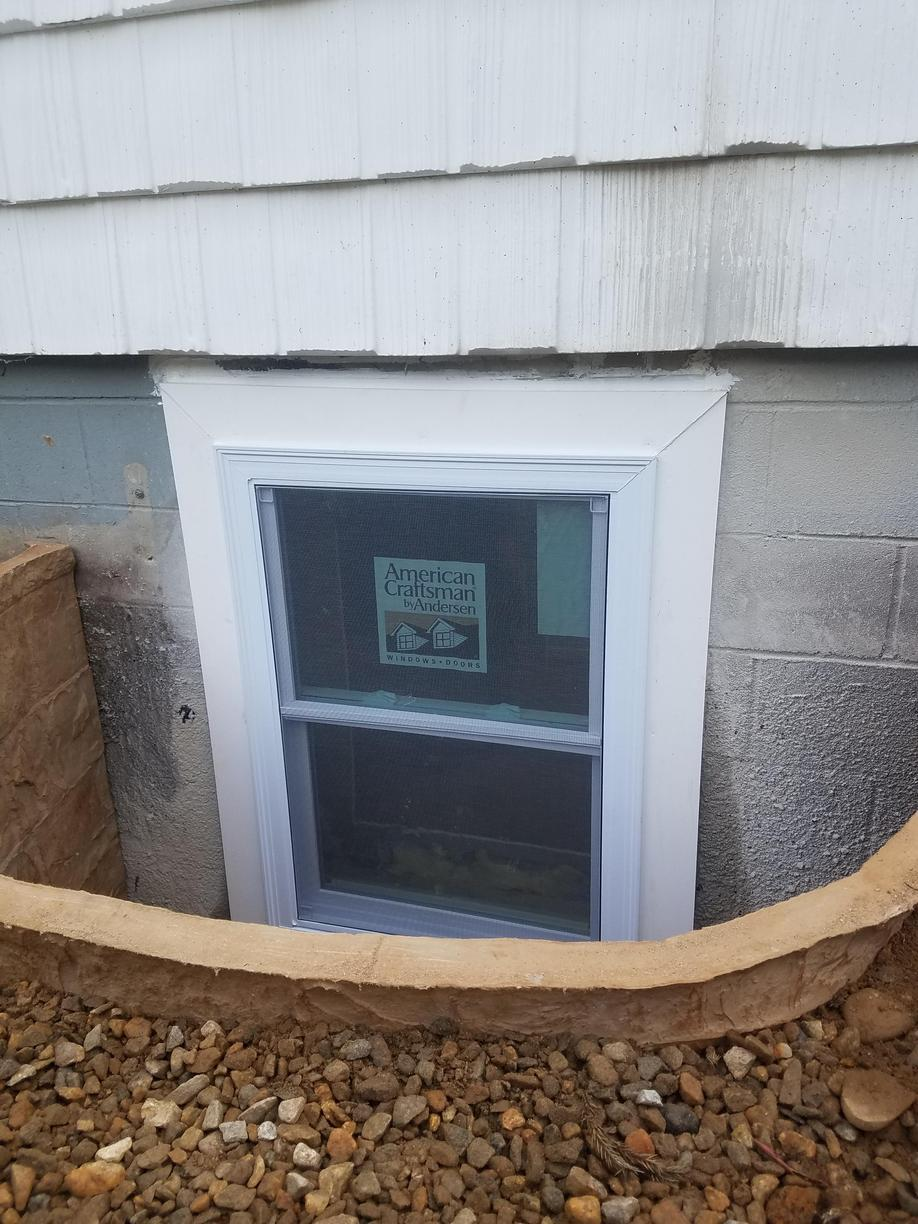 Outside view of finished Egress
