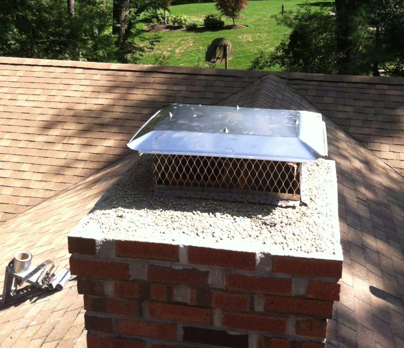 Installed Chimney Cap