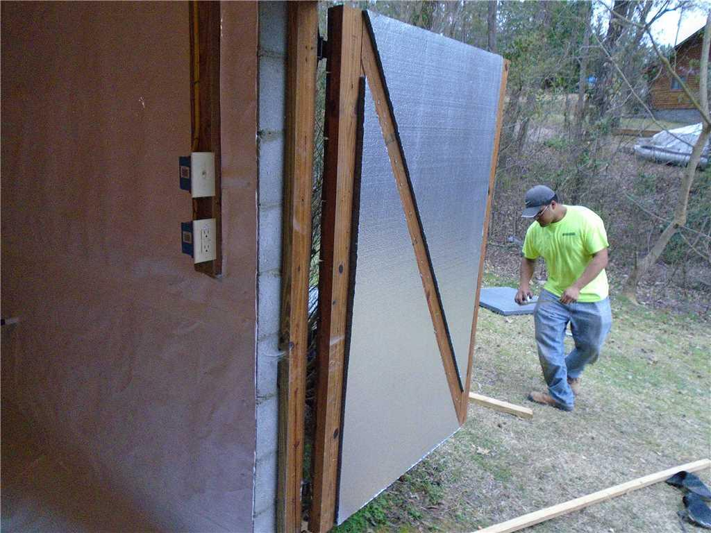 SilverGlo Insulation on Crawlspace Door