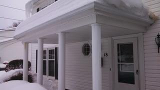 Ice Damming on Penfield Home