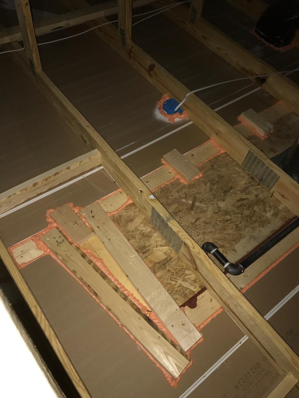 Air sealing the attic flat