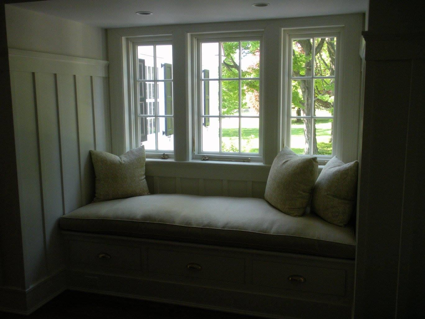 Living Room Remodel with Window Seat