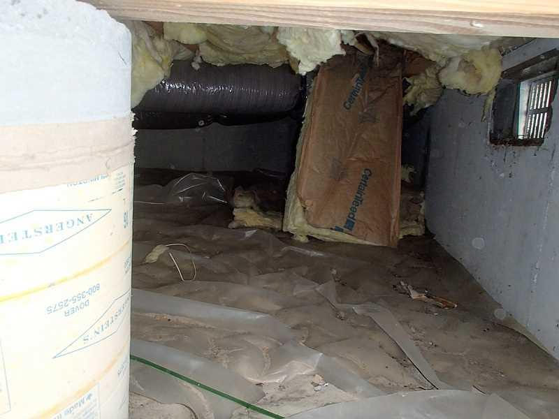 More Evidence of Moisture Problems in Crawl Space in Ocean View, DE