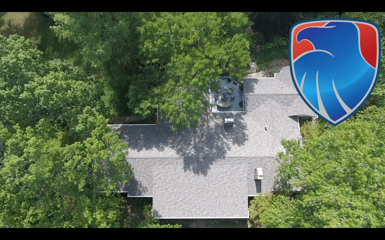 Roof Replacement In St Louis Mo Aerial Photo Of Roof