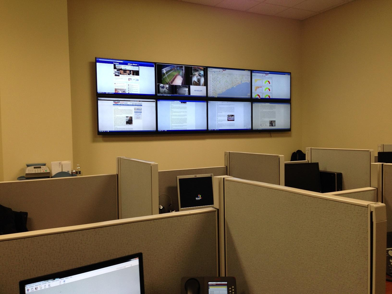 View of video monitoring station