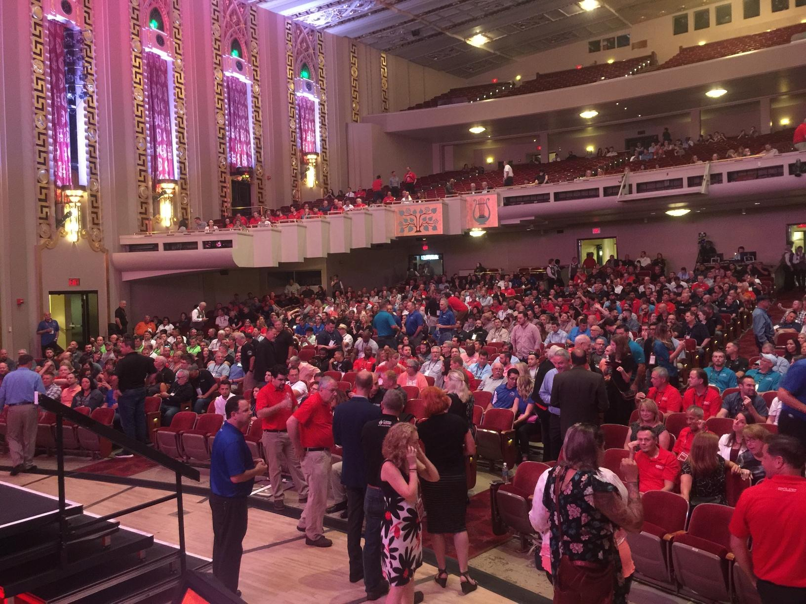 Sneak peak of the crowd at Bushnell Theatre