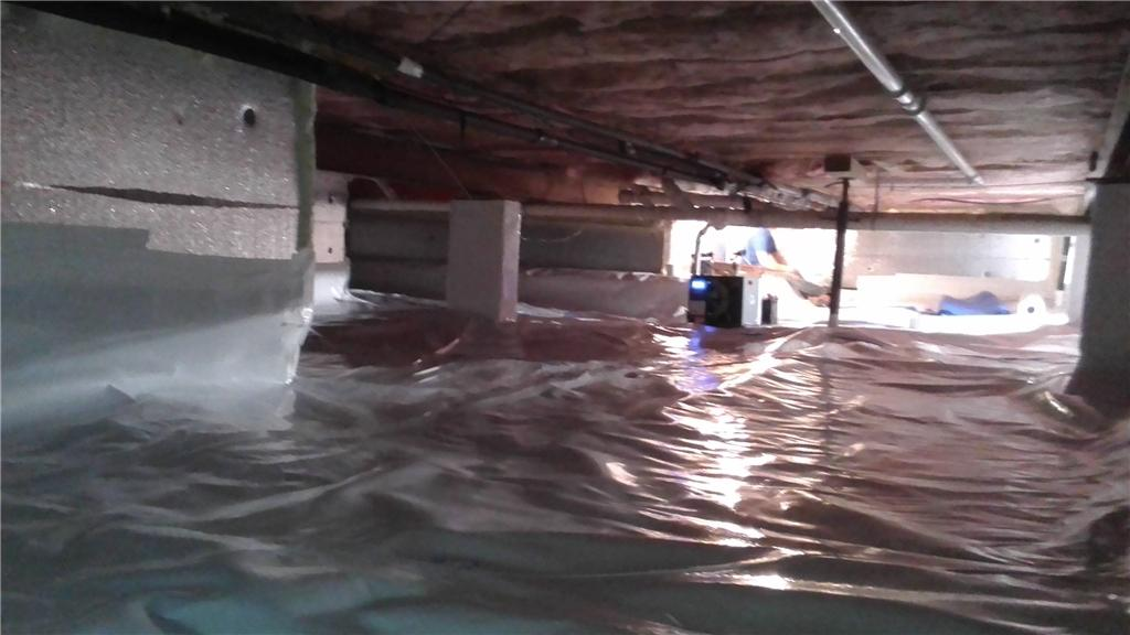 Finished Crawl Space Brighter