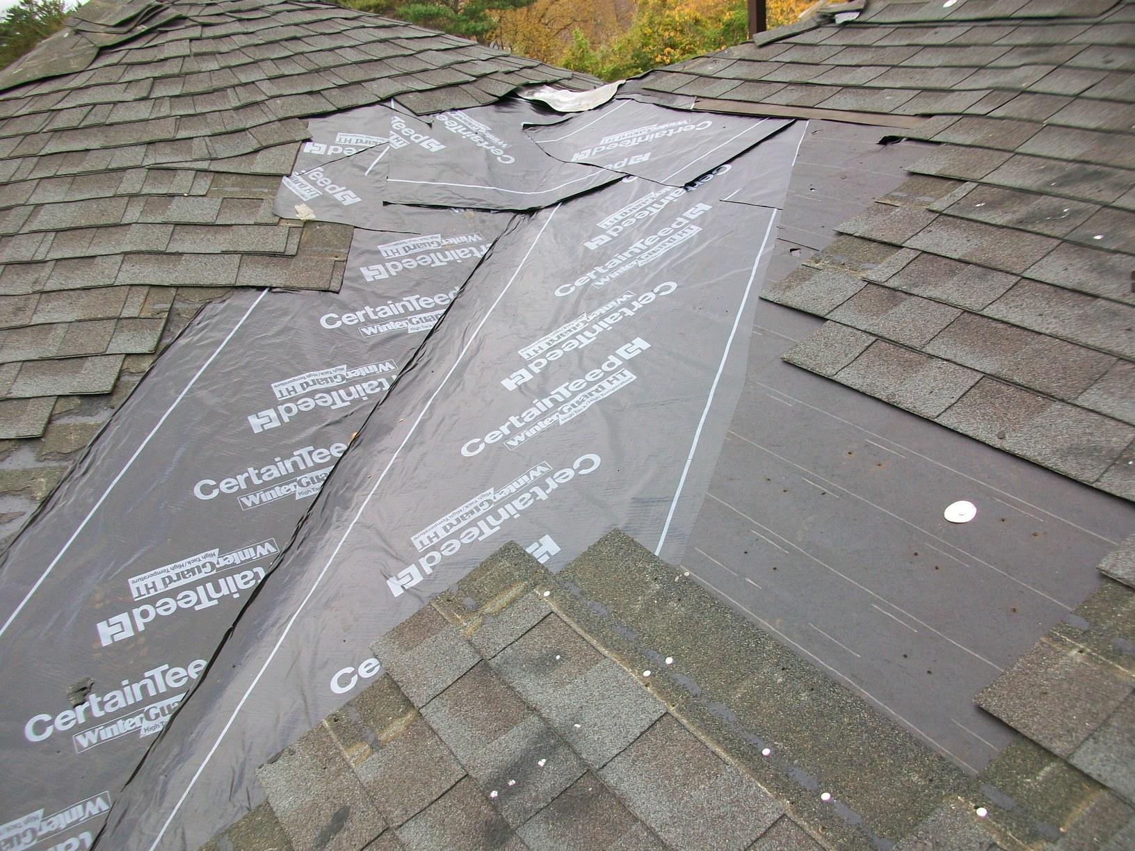 Removing Old Shingles & Ice and Water Shield