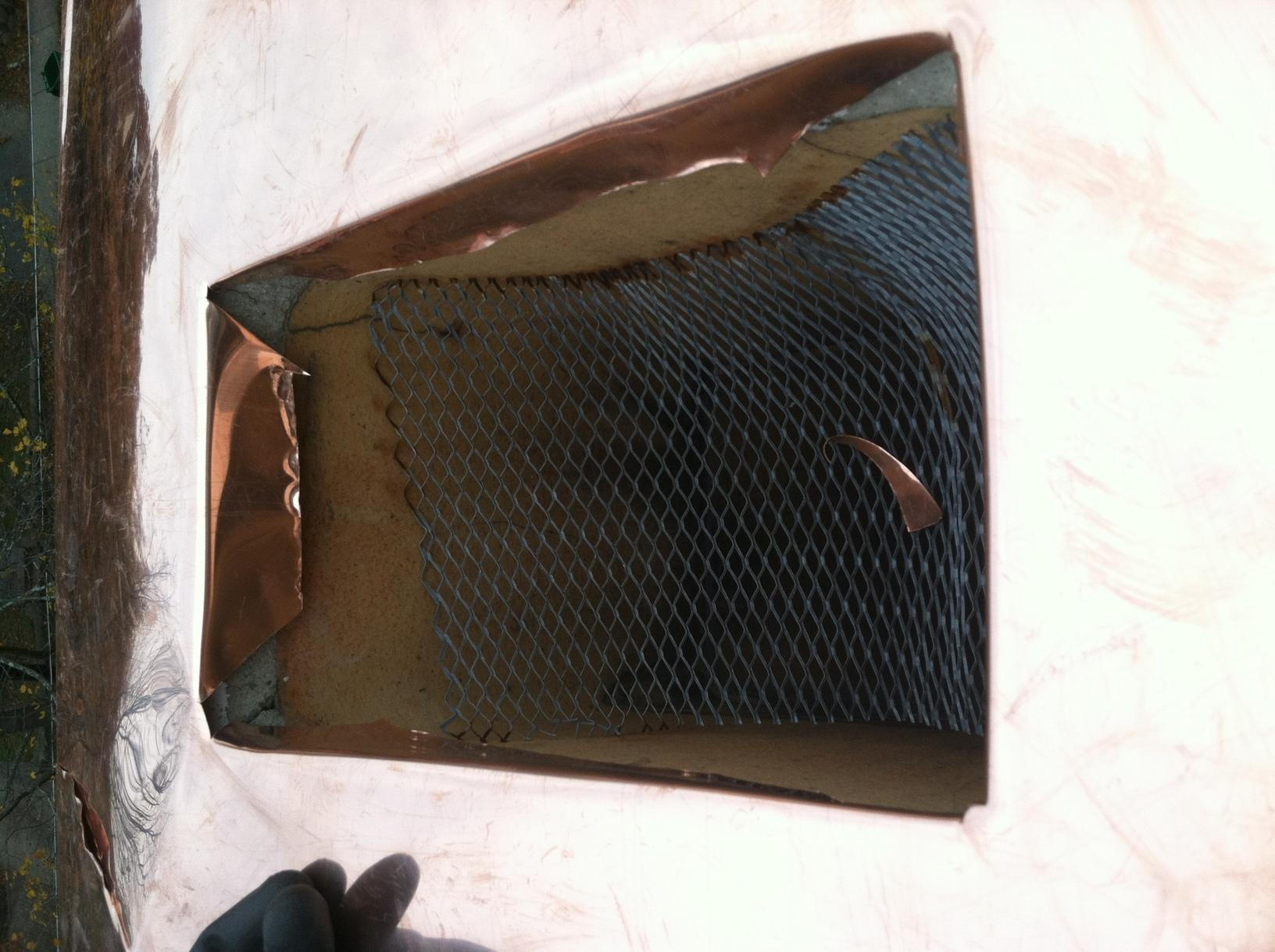 Chimney Repair Copper Chimney Cap On A Stone Chimney In