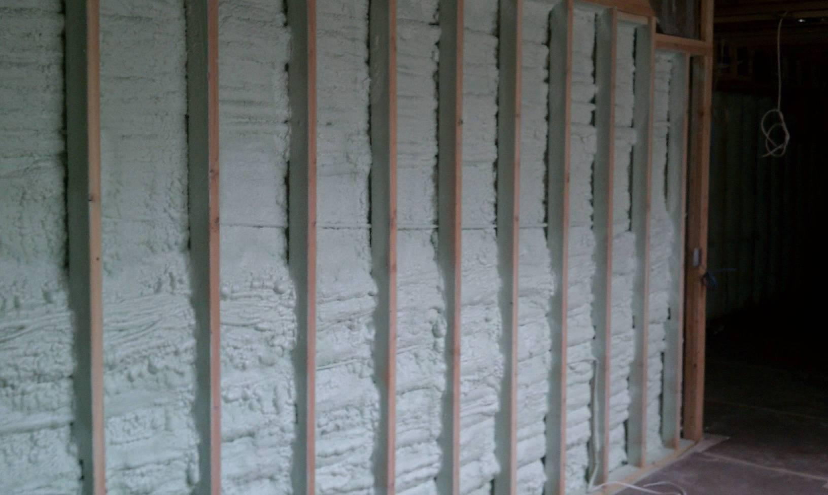 Walls are now fortified with spray foam insulation