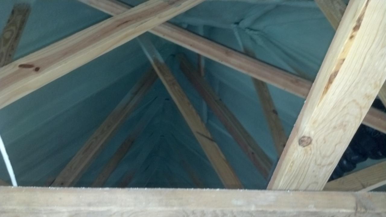 Got Truss? Well we have spray foam insulation! No problems installing!