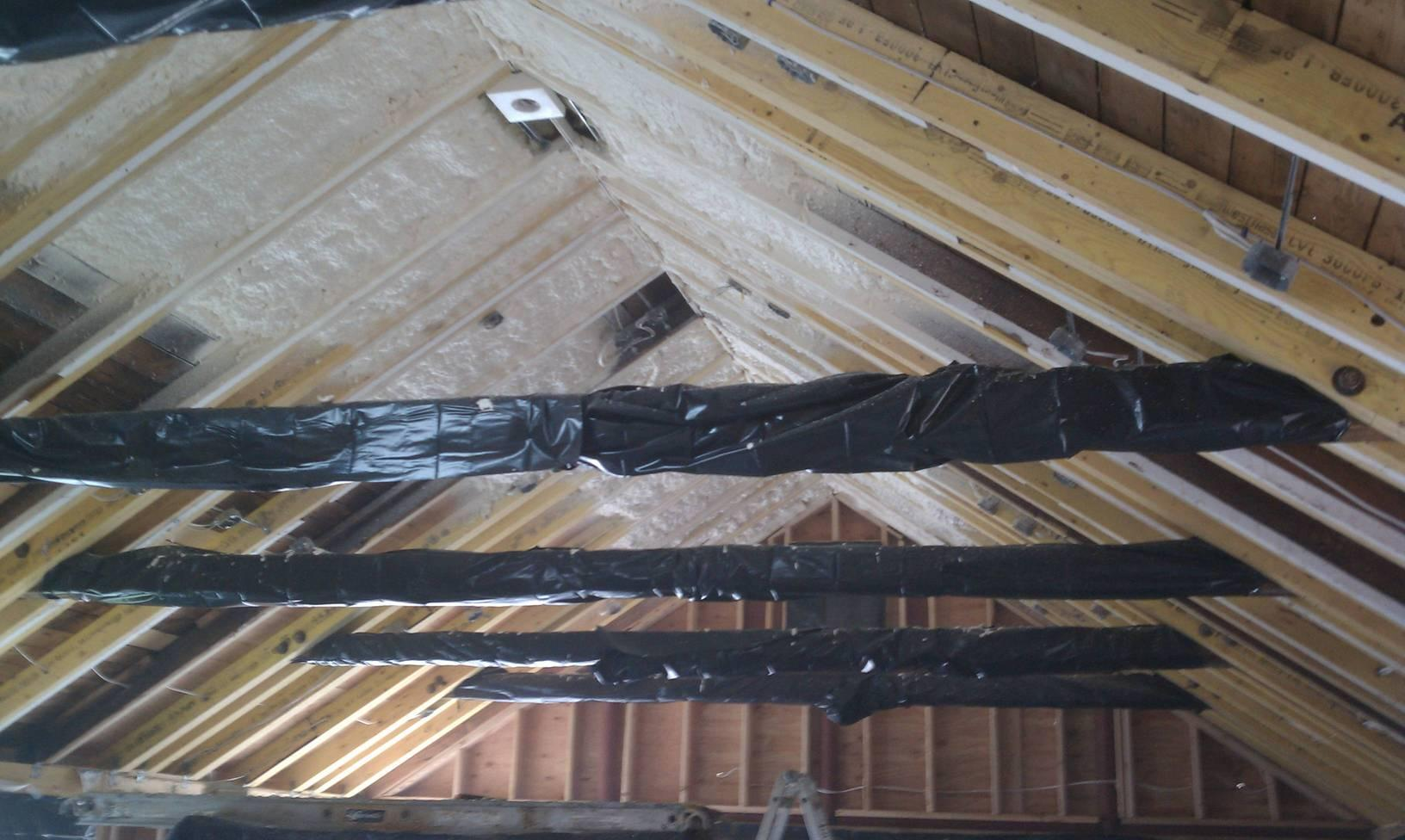 Job prep and spray foam insulation go together like boots and laces!