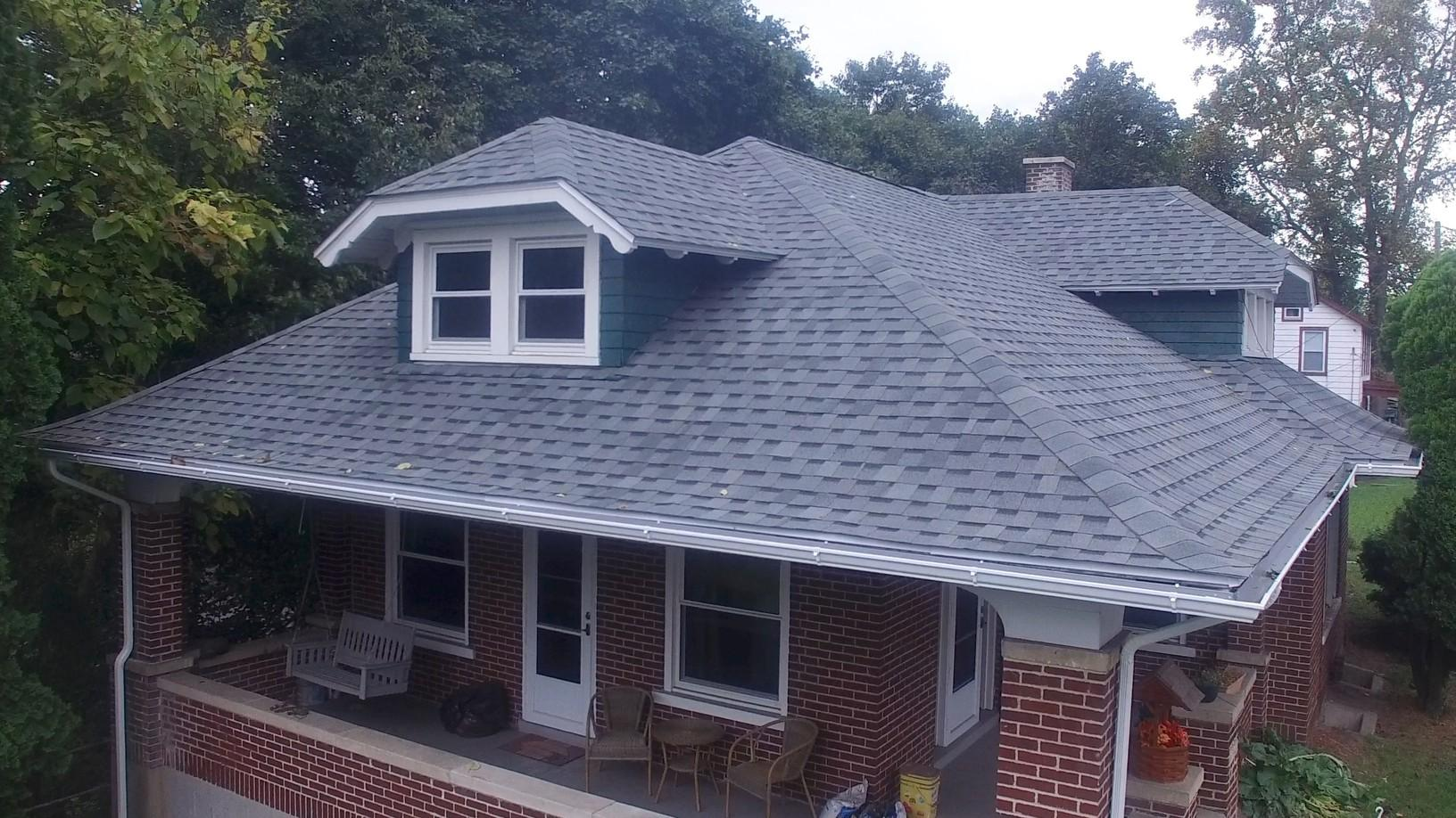 Brand New Home Lifetime Architectural Shingles and Gutters, Installed by Pinnacle Exteriors