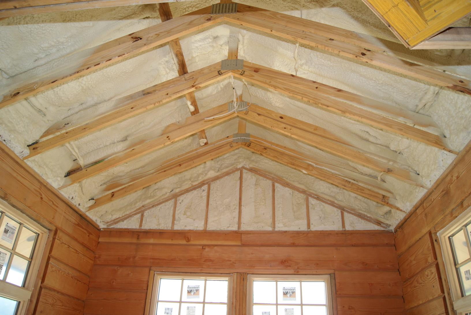 Cathedral Ceilings and Spray Foam Insulation a Perfect Match!