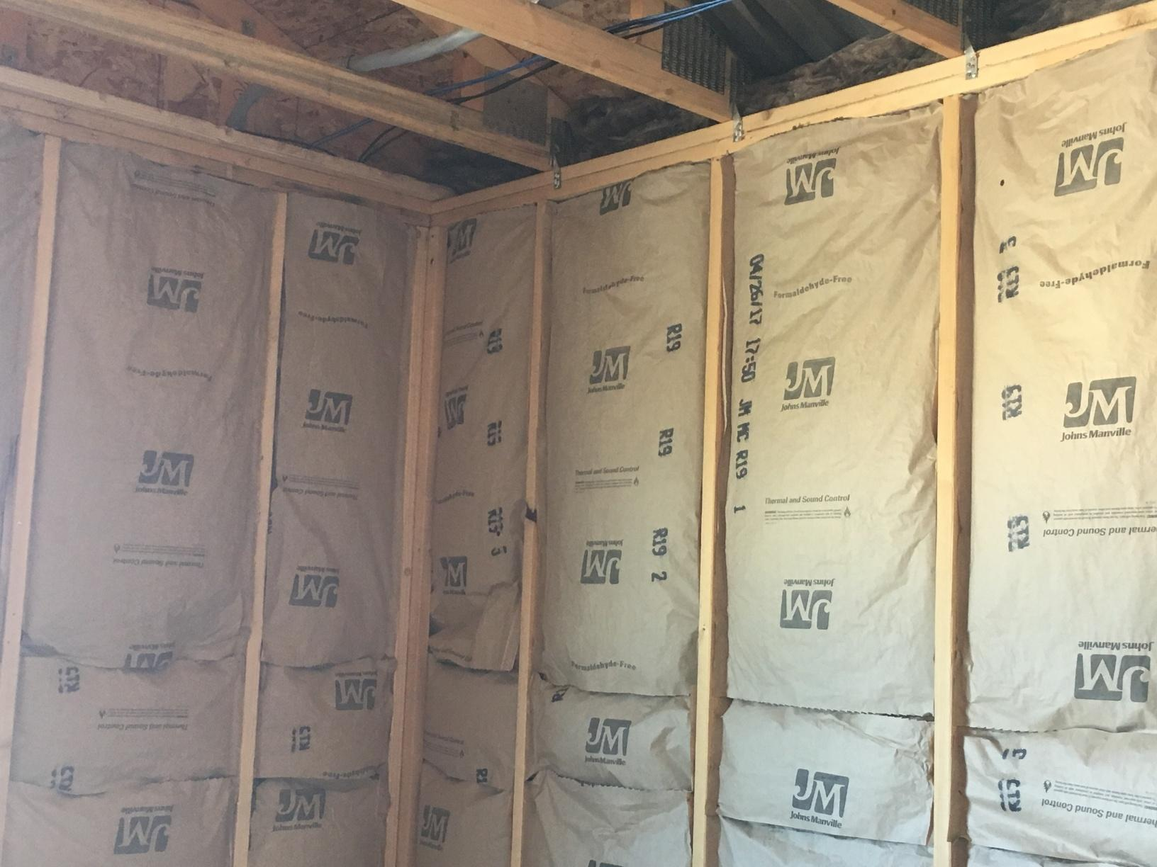 Inside view of your walls! This is fiberglass insulation!