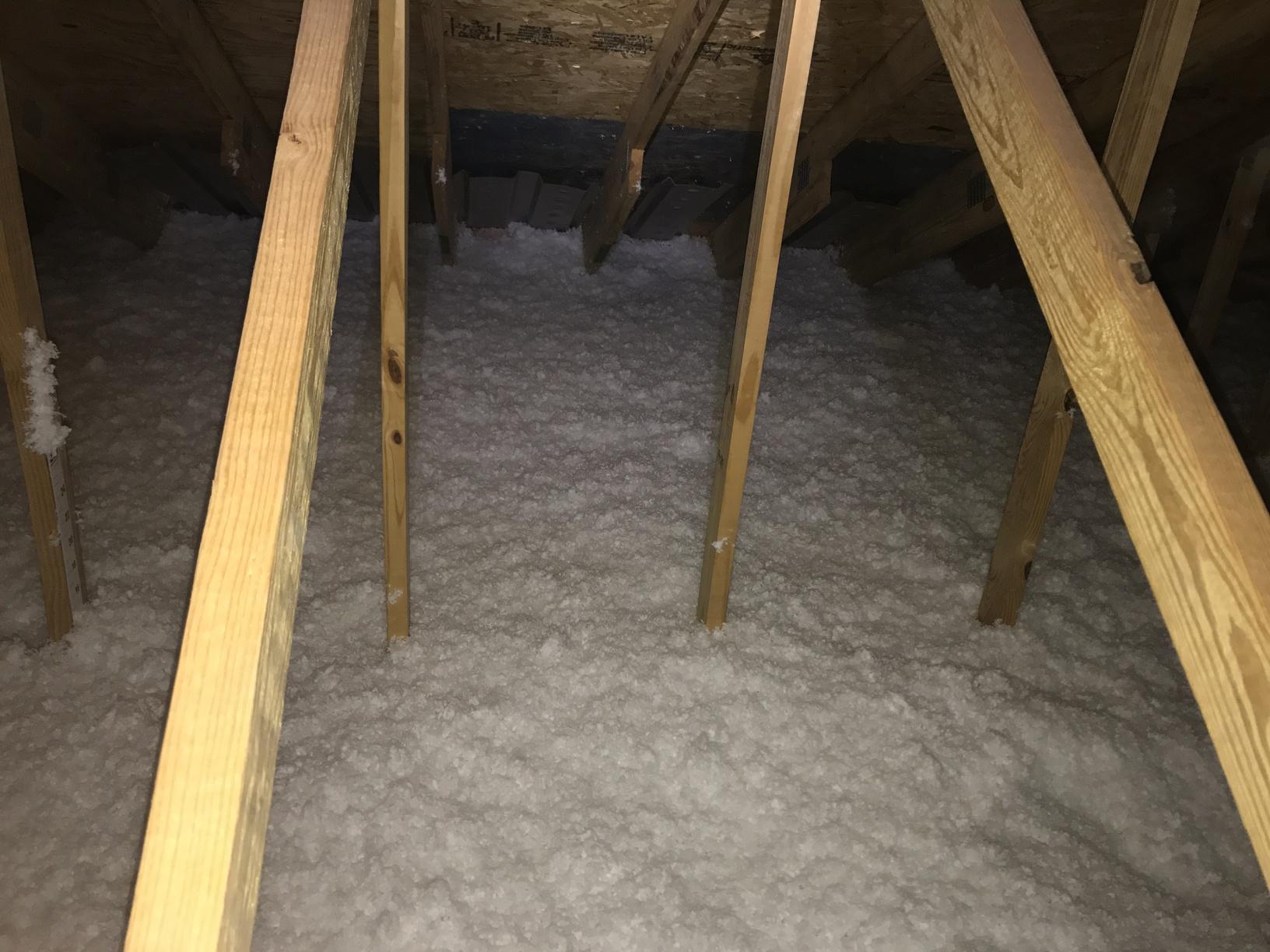 R-49 blown fiberglass insulation installed in Skillman NJ