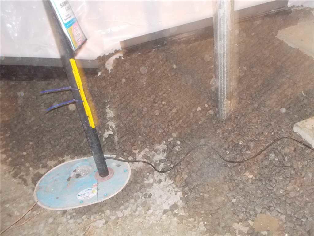 Régler les problèmes d'eau dans le sol du vide sanitaire