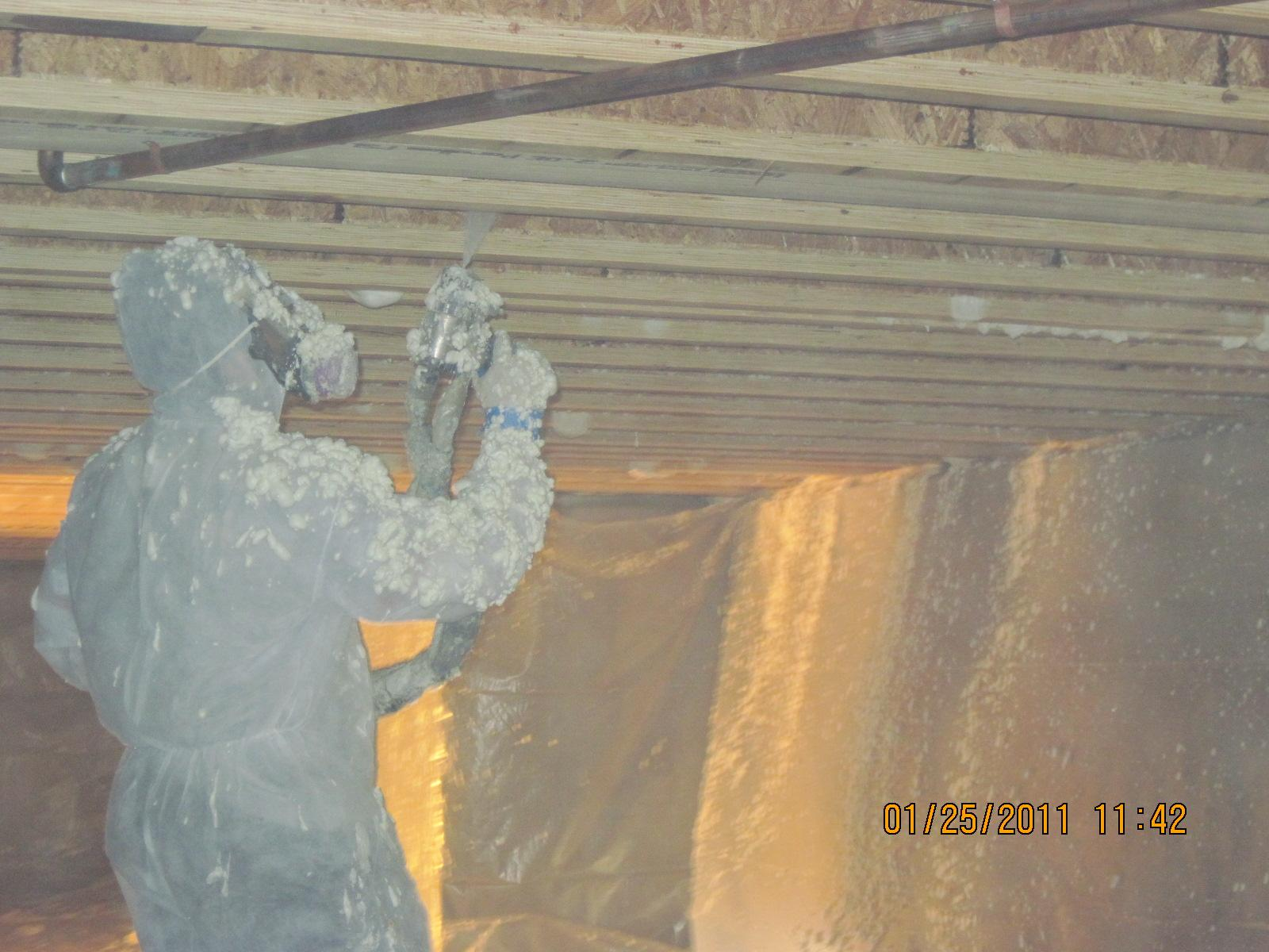 High Crawl Space gets disconnected by spray foam!