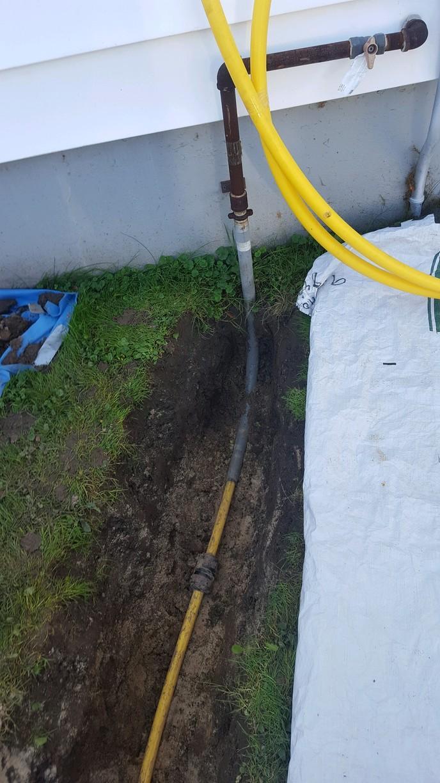 Underground Gas Line In Clyde