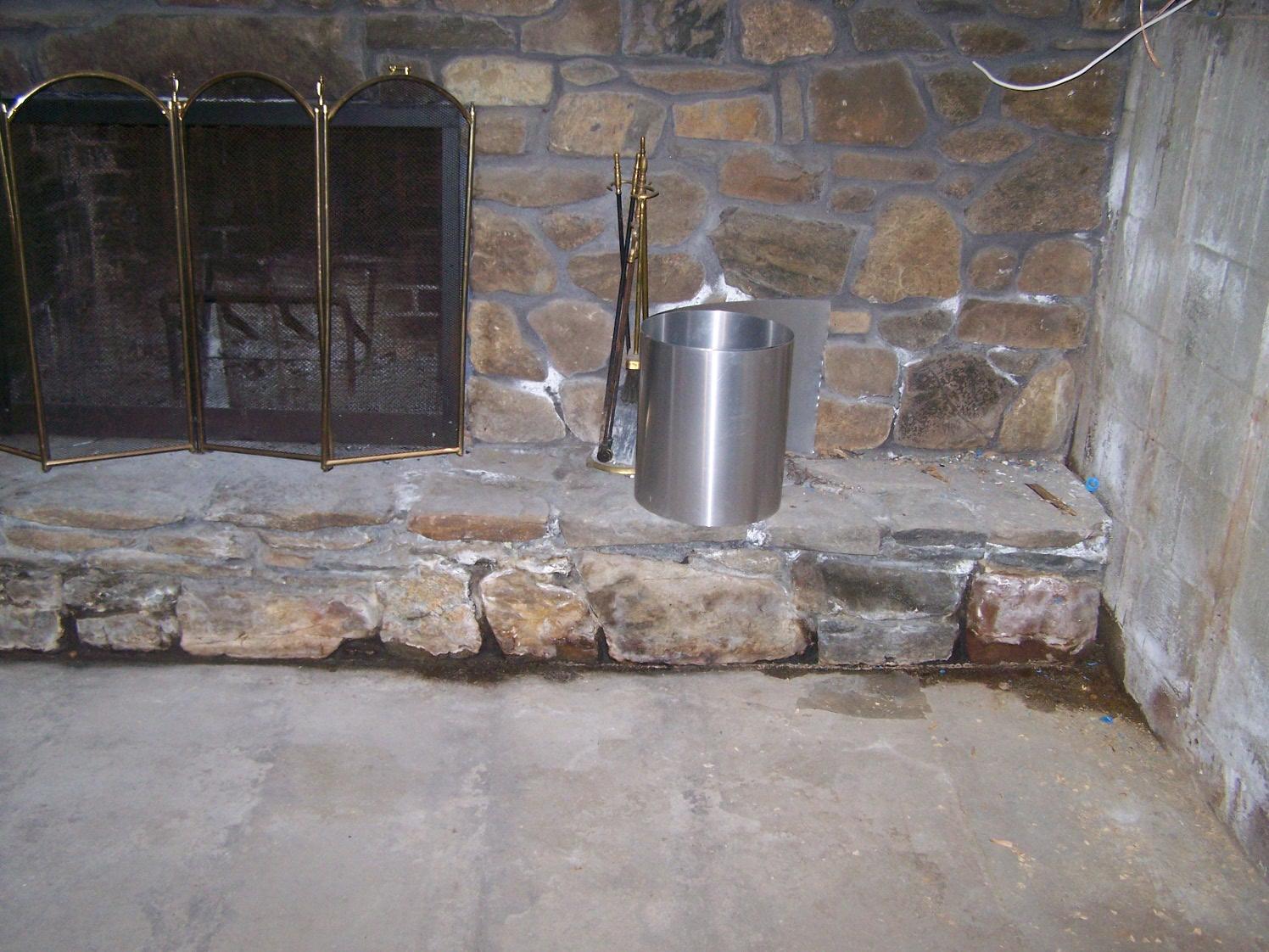 Basement Fireplace in East Hampton, CT